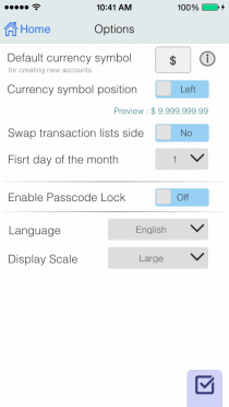 EvoWallet, Options : Everything, NO! complicated.